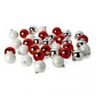 lot de 49 boules en verre aux coloris mixes d6cm mix