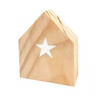 marque place en forme de maison en bois maiso