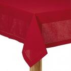 nappe rectangulaire en coton et lin rouge 170x250cm