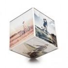 cadre photo cube rotatif 6 vues 15 x 15 cm