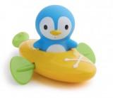 Pingouin pagayeur jouet de bain Jaune / Bleu de Munchkin
