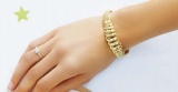 bracelet or jaune 750 milliemes
