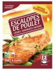 escalopes de poulet crues marinees natures surgelees