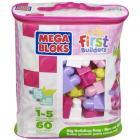 fisher price sac de blocs de construction 60 pieces rose - m