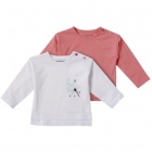 in extenso lot de 2 t-shirts manches longues bebe fille