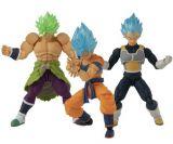 pack de 3 figurines 12 cm broly goku et vegeta