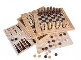 plateau de jeux en bois 4 en 1