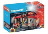 playmobil city action - caserne de pompiers transportable