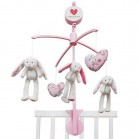 mobile musical lapin pink blossom little dutch