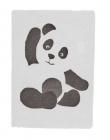 sauthon tapis de chambre panda blanc - noir