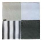 tapidou mosaique blanc/gris