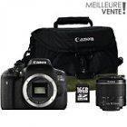 appareil photo reflex canon eos 750d 18-55 dc etui sd