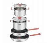 batterie de cuisine tefal optispace 6 pieces g720s604