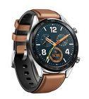 montre connectee huawei watch gt marron