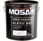mosaik peinture alkyde emulsion mate blanc 15 l