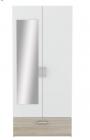 armoire 2 portes 1 tiroir l89 cm ready imitation chene et b