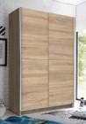armoire 2 portes coulissantes l125 cm fast imitation chene