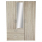 armoire 3 portes 2 tiroirs ready imitation checircne