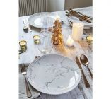 assiette plate oslash 26 cm marbre