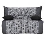 photo  Banquette lit BZ CALIFORNIA 2 tissu Trendy gris