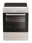 beko cuisiniere vitroceramique cuv61b blanc