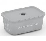 boite plastique 15l chic box gris