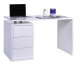 bureau 3 tiroirs mezzo blanc