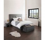 photo   Cadre de lit 140x190 cm DREAM PU gris