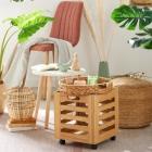 caisse en bois cottage naturel