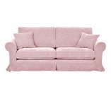 canapeacute 3 places deacutehoussable eloise tissu rose