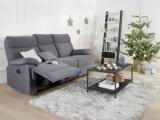 canapeacute 3 places 2 relax manuels jodie tissu gris bleuteacute