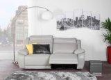 canape 3 places 2 relax electriques sunday cuir et pu gris