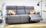 canape 3 places 2 relax manuels jodie tissu gris bleute