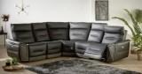 canape dangle relax electrique heaven cuir noir tissu gris