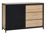 commode 3 tiroirs 1 porte indus oskar