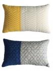 coussin 30x45 cm assorti bossa bleu / jaune