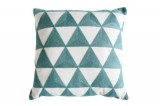 coussin 40x40 cm triangle blanc / gris