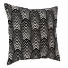 coussin 40x40 cm palm noir
