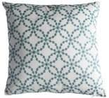 coussin 40x40 cm rosace blanc / bleu nuit