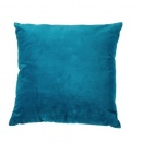 coussin 45x45 cm velours bleu canard
