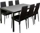 ensemble table 6 chaises ana noir
