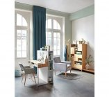 photo   Fauteuil CHILLY tissu gris clair