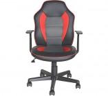 fauteuil dactylo punchy 2 noir rouge et gris