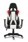 fauteuil de bureau gamer flash noir blanc et rouge