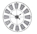 horloge d76 cm met gris