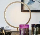 lampe a poser circle laiton mat