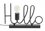 lampe a poser h24 cm hello noir