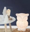 lampe a poser hibou 2 blanc