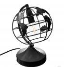 lampe globe h 24 cm noir