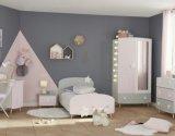 lit 90 x 190 cm stella gris rose et blanc